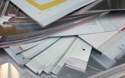 Offset aluminium platen